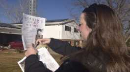 a victims advocate in Greeley, Colo. posts a flyer of a missing persons poster for Jonelle Matthews,