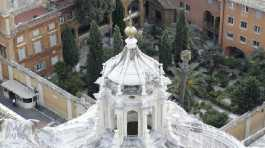 view of the Teutonic Cemetery inside the Vatican.