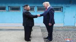 Kim Jong Un and U.S. President Donald Trump