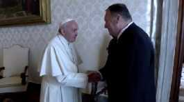 Mike Pompeo with Pope Francis