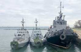 Ukrainian warships captured by Russia