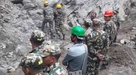 Nepal Army building border track